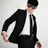 西裝套裝含西裝外套+褲子-精緻紳士商務成套男西服6x45[巴黎精品]