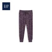 Gap女裝 圖案寬鬆舒適休閒褲499141-魅力棗紅色