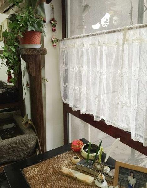 可愛時尚田園門簾218 廚房半簾 咖啡簾 窗幔簾 穿杆簾 (寬100*高50cm) 風水簾
