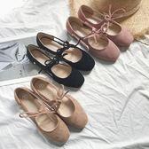 豆豆鞋 正韓百搭系帶側空軟底豆豆鞋芭蕾舞鞋方頭淺口單鞋女 蒂小屋服飾  618來襲