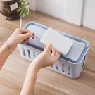 家用電線收納盒桌面電源線插線板充電器集線...