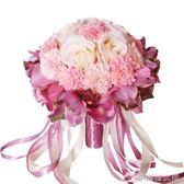 婚慶韓式新娘手捧花仿真玫瑰高檔婚禮婚紗照道具結婚手拋花球 辛瑞拉