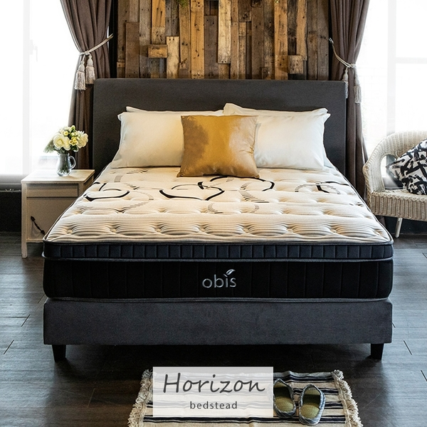 Horizon時尚繽紛雙人6尺2件式床組房間組(床頭+床底)[雙人加大6×6.2尺]【obis】