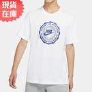 【現貨】NIKE NSW 男裝 短袖 休閒 純棉 塗鴉 印章 白 藍【運動世界】CW0482-100