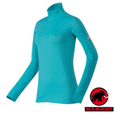 【MAMMUT 長毛象】 Go Dry Zip 女 立領保暖長袖內衣 淺藍 1050-01130