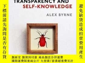 二手書博民逛書店Transparency罕見And Self-knowledgeY364153 Alex Byrne Oup