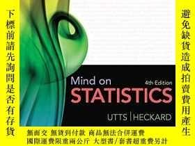 二手書博民逛書店Mind罕見On StatisticsY256260 Jessica M. Utts Duxbury Pres