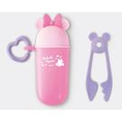 剪麵夾收納罐 日本製兒童餐具 蝴蝶粉米妮-Disney迪士尼 (嬰幼兒/寶寶/幼童/小孩/小朋友)