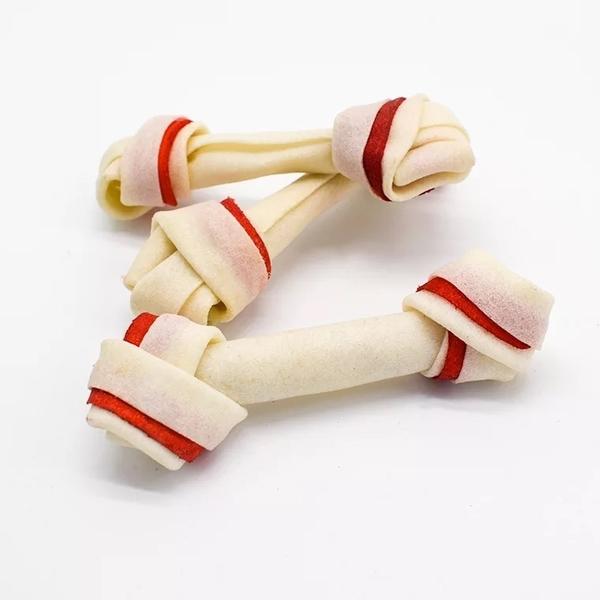 ★4.5吋雙色牛皮骨【10支入】潔牙效果大升級3425,買愈多愈划算.三種口味  隨機出貨