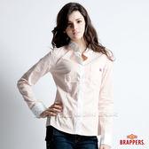 BRAPPERS 女款 條紋長袖襯衫-橘條