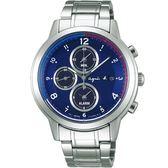 【人文行旅】Agnes b. | 法國簡約雅痞 FBRD969 太陽能時尚腕錶 42mm