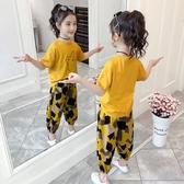 女童夏套裝 女童夏季套裝2020新款韓版兒童洋氣網紅時尚衣服女孩運動時髦夏裝【快速出貨】
