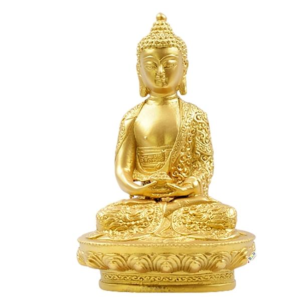 阿彌陀佛(銅/泥金) 【十方佛教文物】