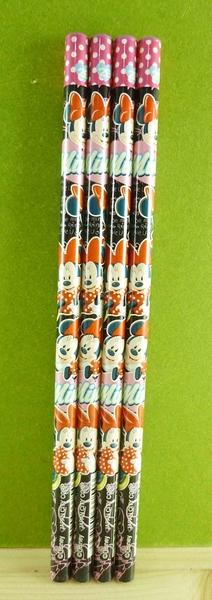 【震撼精品百貨】Micky Mouse_米奇/米妮 ~4入2B鉛筆-黑米妮