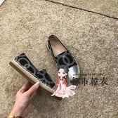 漁夫鞋 經典~回饋款平底單鞋女2019小香風草編漁夫鞋厚底懶人鞋樂福鞋 35-40