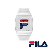 【FILA 斐樂】/全白LOGO手錶(男錶 女錶 Watch)/38-105-001/台灣總代理原廠公司貨兩年保固