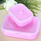 旅行泡面碗折疊餐盒便攜戶外學生便當盒水果保鮮盒折疊硅膠飯盒