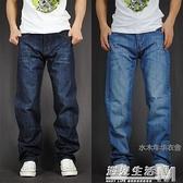 春夏季男士胖超薄牛仔長褲子休閒寬鬆直筒牛仔褲男加肥加大碼潮流