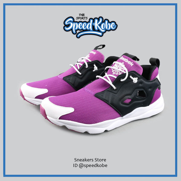 REEBOK FURYLITE PUMP 紫黑白 改良 襪套 男 # V69437 ☆speedkobe☆