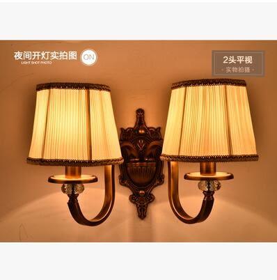 美術燈 壁燈現代簡約LED床頭燈臥室創意歐式美式客廳樓梯過道-不含光源(8606-雙頭)
