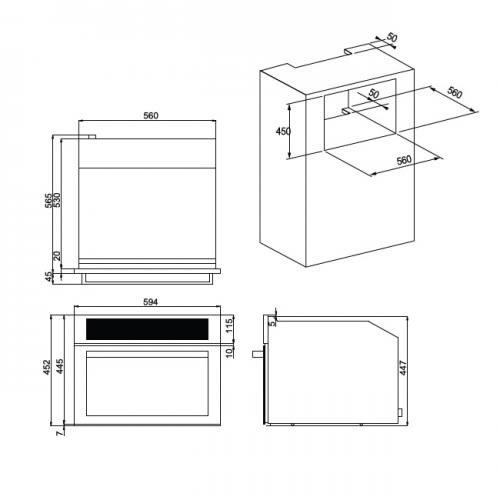 義大利 best 貝斯特 SO-970 嵌入式蒸烤爐 (60cm)寬【零利率】