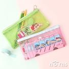 蠟筆小新透明果凍筆袋- Norns 正版授權Crayon Shinchan 文具收納 巧克比 校車