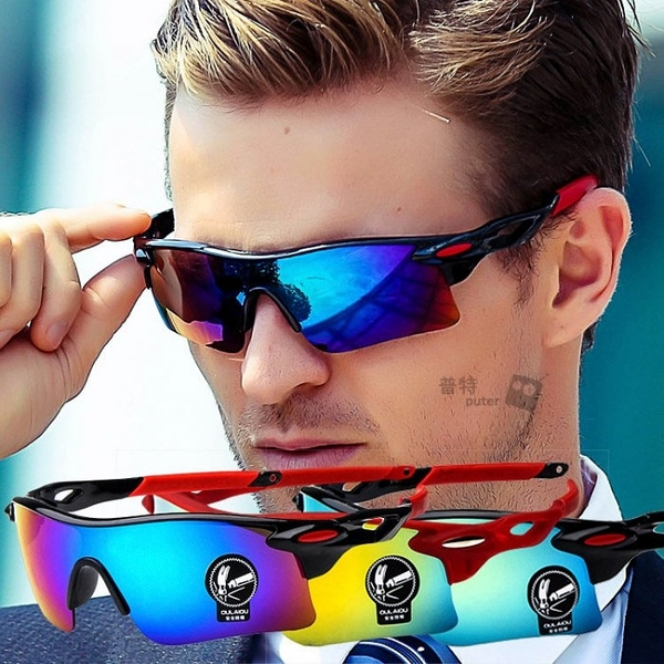 普特車旅精品【BM0155】戶外運動炫彩護目鏡 自行車騎行太陽眼鏡 機車汽車司機墨鏡夜視鏡 4色