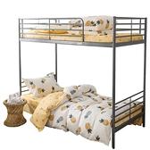 全棉被套單人床三件套宿舍床上用品純棉學生床單1.2寢室女被罩夏 滿天星