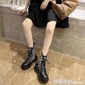 馬丁靴女2020新款秋季薄款網紅瘦瘦靴增高透氣百搭秋天穿的短靴潮 聖誕節全館免運