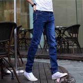 牛仔褲春裝男士彈力小腳褲男裝修身型青少年休閒褲子男 時光之旅 免運