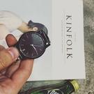 金典 全鋼 黑色 手錶 鋼錶 韓國 全素面 手錶 潮流暗黑 錶