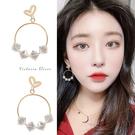925純銀針  韓國優雅氣質甜美魅力、迷人風采耳環-維多利亞190749