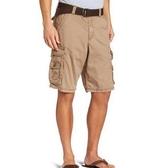 【Lee】男斜紋D形環帶膝蓋懷俄明貨物短褲(銅色)