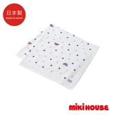 MIKI HOUSE BABY 日本製星星紗布浴巾(紅/藏藍)