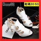 小尺碼31女鞋高跟鞋32鏤空魚口鞋33大...