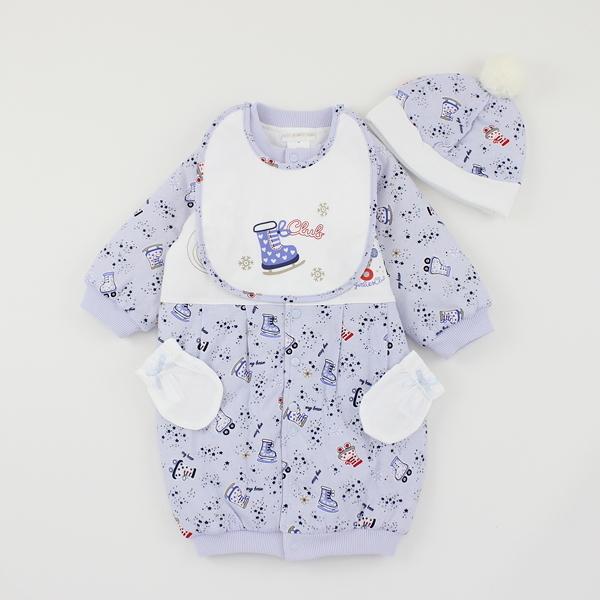 【愛的世界】純棉鋪棉兩用嬰衣禮盒/3~6個月-台灣製- ---禮盒推薦