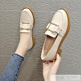 小皮鞋女秋季百搭平底秋鞋英倫單鞋2020春款潮鞋新款一腳蹬樂福鞋 夏季新品