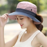 戶外遮陽帽子情侶漁夫帽女可折疊太陽帽夏季防曬帽騎車旅游登山帽 星期八