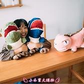 暖手抱枕 恐龍暖手捂抱枕玩偶創意公仔毛絨玩具布娃娃午睡枕可愛禮物送女孩 - 小衣里大購物