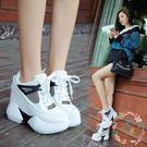 增高鞋 - 厚底內增高12cm超高跟夏鬆糕運動鞋