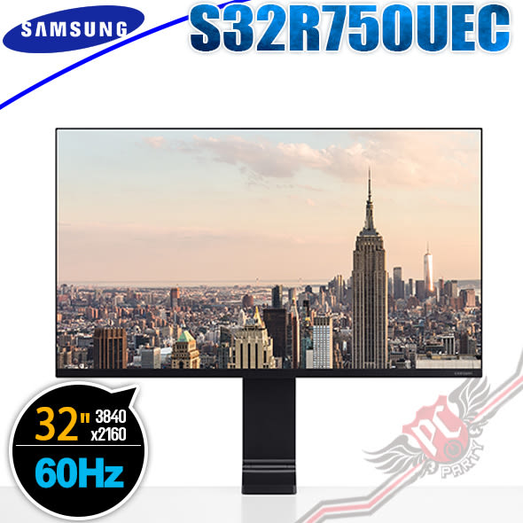 [ PC PARTY ] 送4800元郵政禮券 SAMSUNG 三星 Space Monitor S32R750UEC 60HZ 32吋 電競螢幕