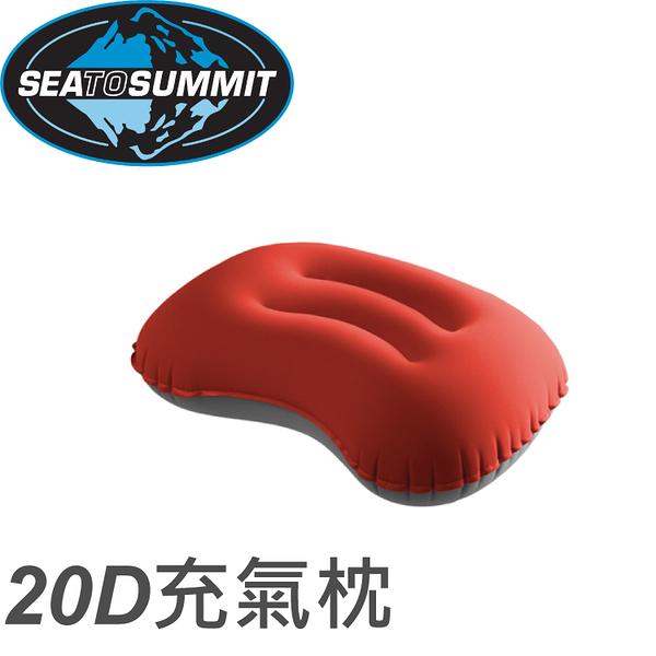 【Sea to Summit 澳洲 20D 充氣枕《紅》】STSAPILULRG/露營枕頭/午睡枕/飛機枕