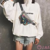 胸包女2019新款韓版潮時尚運動跑步百搭斜挎小腰包ins個性時髦