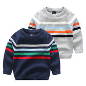 色彩條紋毛線針織衣 長袖上衣 橘魔法Baby magic 現貨 兒童 童裝 男童