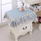 歐式臥室床頭櫃蓋布布藝夾棉床頭櫃罩防塵罩蕾絲洗衣機冰箱蓋巾熊熊物語