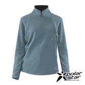 【PolarStar】女 立領拉鍊保暖衣『藍綠』P20222 上衣 休閒 戶外 登山 吸濕排汗 透氣 長袖
