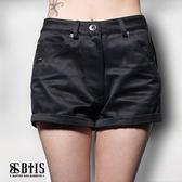 【BTIS】蕾絲拼接短褲 / 黑色