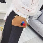 2017日韓新款帆布夾扣包迷你手機包復古小包貝殼包單肩斜挎包女包 優帛良衣