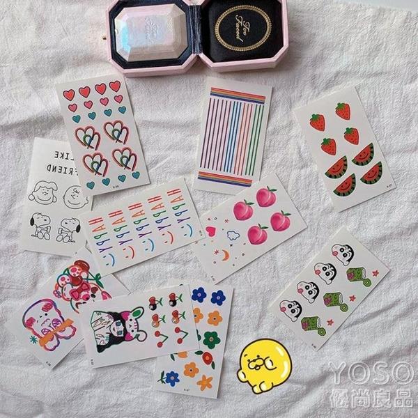 紋身貼手指貼錶情持久防水可愛手腕貼紙60張 JRM簡而美