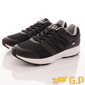 【GP】時尚潮流-輕量彈力運動鞋款-5795M-10黑(男段)